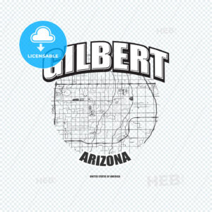 Gilbert, Arizona, logo artwork - HEBSTREITS