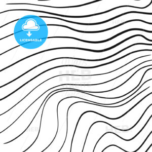 Hand-drawn line art wavy pattern - HEBSTREITS