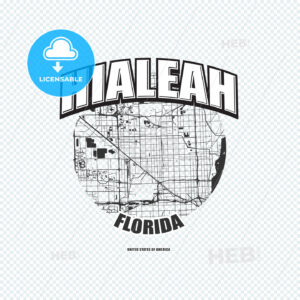 Hialeah, Florida, logo artwork - HEBSTREITS