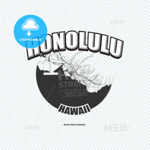 Honolulu, Hawaii, logo artwork - HEBSTREITS