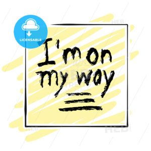 I'm on my way. lettering on colorful backgound - HEBSTREITS