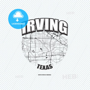Irving, Texas, logo artwork - HEBSTREITS