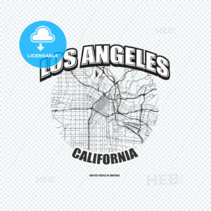 Los Angeles, California, logo artwork - HEBSTREITS