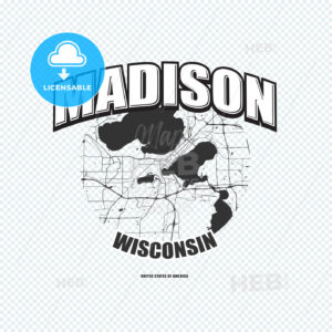 Madison, Wisconsin, logo artwork - HEBSTREITS