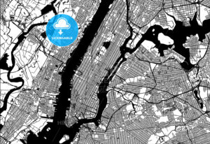 Map of Manhattan - HEBSTREITS