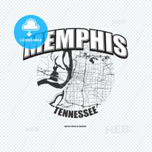 Memphis, Tennessee, logo artwork - HEBSTREITS