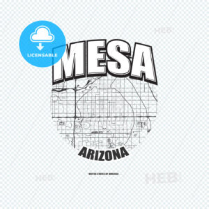 Mesa, Arizona, logo artwork - HEBSTREITS