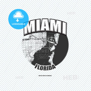 Miami, Florida, logo artwork - HEBSTREITS