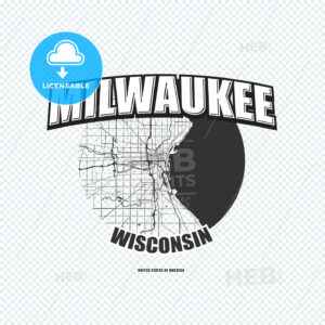 Milwaukee, Wisconsin, logo artwork - HEBSTREITS