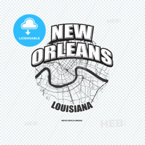 New Orleans, Louisiana, logo artwork - HEBSTREITS