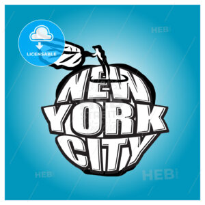 New York City Big Apple Logo - HEBSTREITS