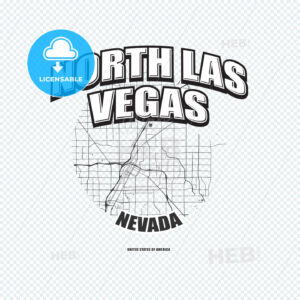 North Las Vegas, Nevada, logo artwork - HEBSTREITS
