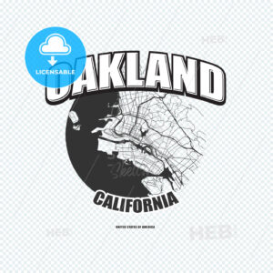 Oakland, California, logo artwork - HEBSTREITS
