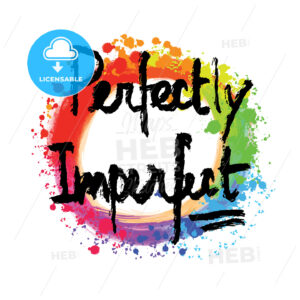 Perfectly imperfect lettering on colorful backgound - HEBSTREITS
