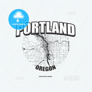 Portland, Oregon, logo artwork - HEBSTREITS