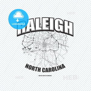 Raleigh, North Carolina, logo artwork - HEBSTREITS