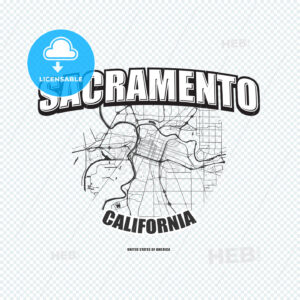 Sacramento, California, logo artwork - HEBSTREITS