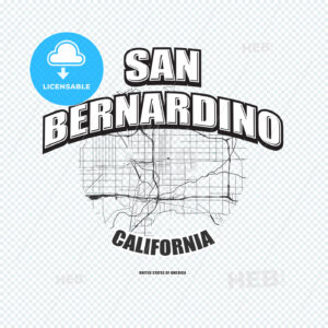 San Bernardino, California, logo artwork - HEBSTREITS