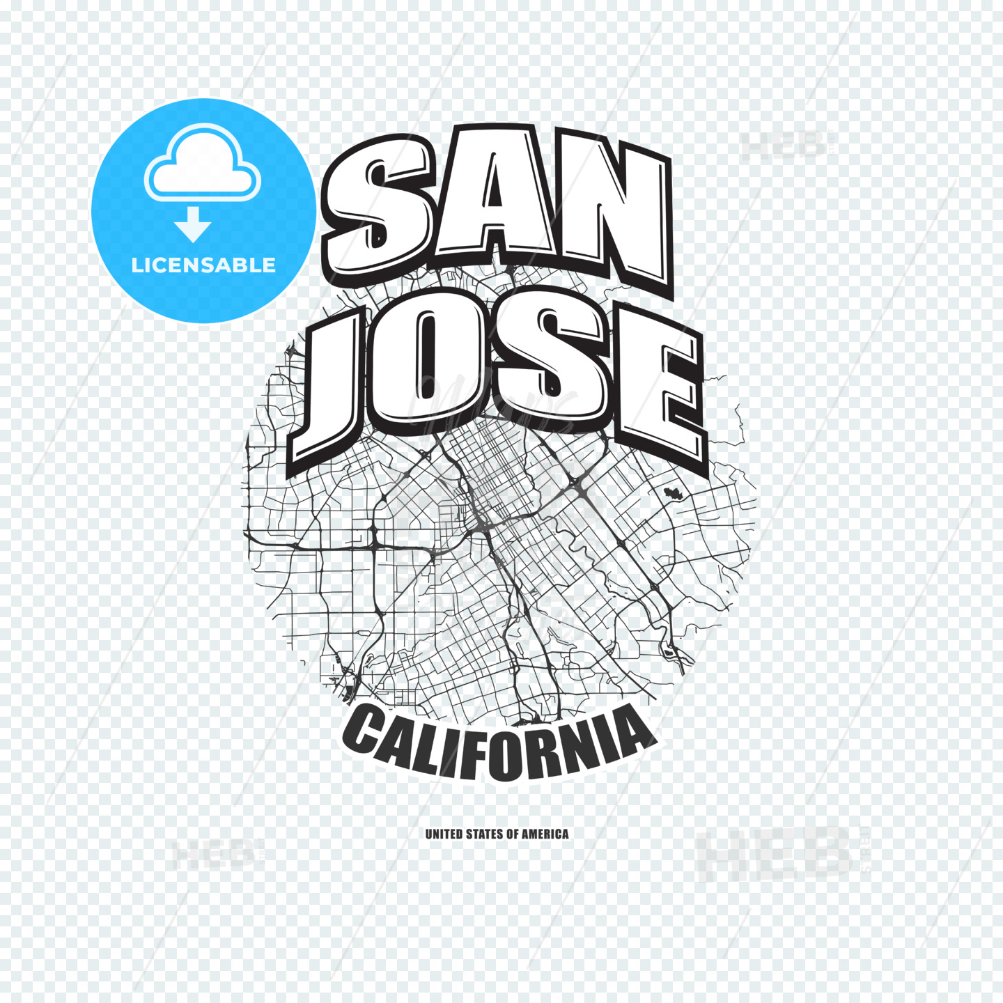 San Jose, California, logo artwork