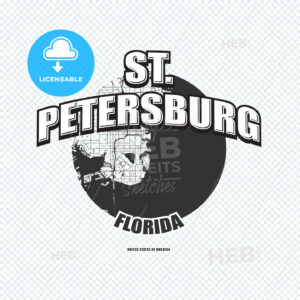 St. Petersburg, Florida, logo artwork - HEBSTREITS