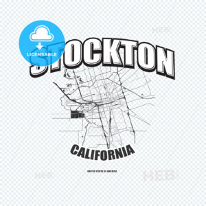 Stockton, California, logo artwork - HEBSTREITS