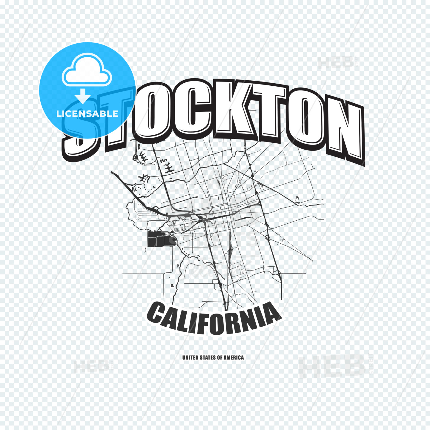 Stockton, California, logo artwork