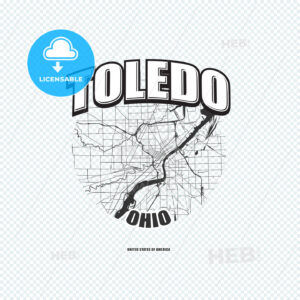 Toledo, Ohio, logo artwork - HEBSTREITS