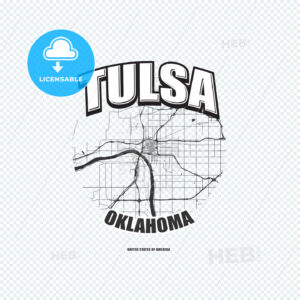 Tulsa, Oklahoma, logo artwork - HEBSTREITS