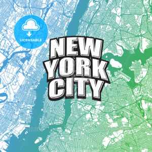 Two-toned map of New York City with Logo - HEBSTREITS