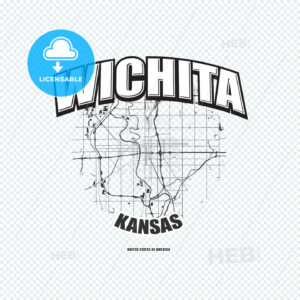 Wichita, Kansas, logo artwork - HEBSTREITS
