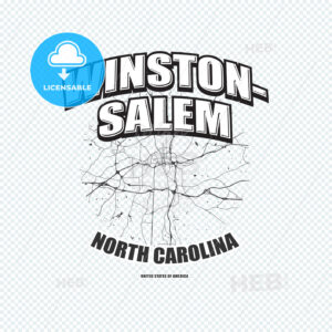 Winston–Salem, North Carolina, logo artwork - HEBSTREITS