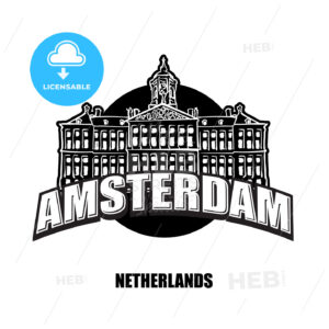 Amsterdam, Netherlands, black and white logo - HEBSTREITS