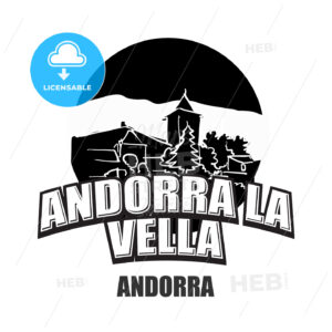 Andorra la Vella black and white logo - HEBSTREITS