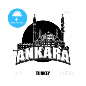 Ankara mosque black and white logo - HEBSTREITS