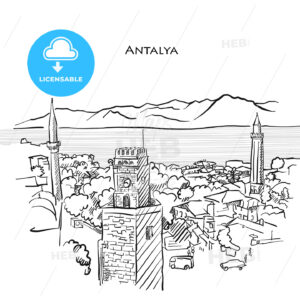Antalya Travel Sketch - HEBSTREITS