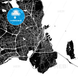 Area map of Copenhagen, Denmark