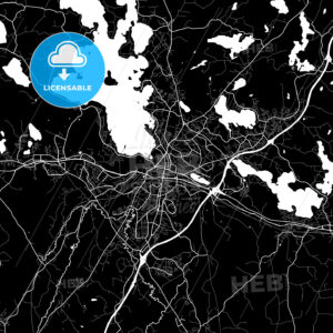 Area map of Lahti, Finland - HEBSTREITS