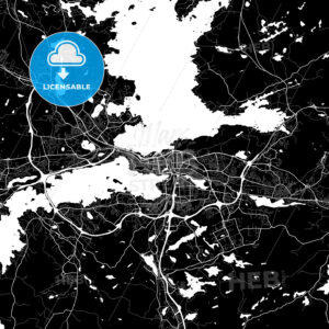 Area map of Tampere, Finland - HEBSTREITS