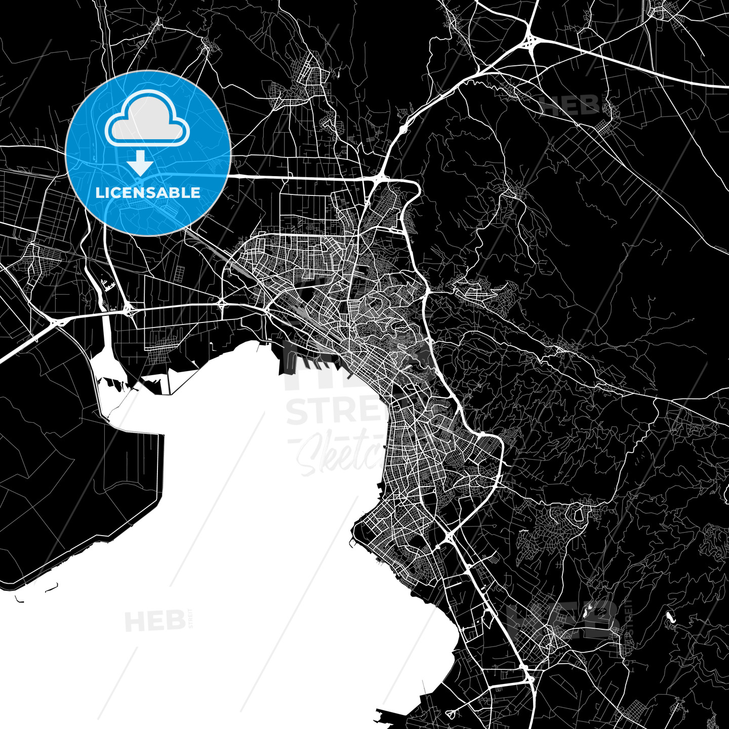 Area map of Thessaloniki , Greece - HEBSTREITS