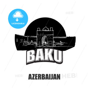 Baku, Azerbaijan, black and white logo - HEBSTREITS
