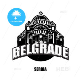 Belgrade, Serbia, black and white logo