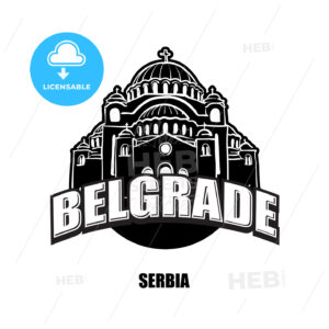 Belgrade, Serbia, black and white logo - HEBSTREITS