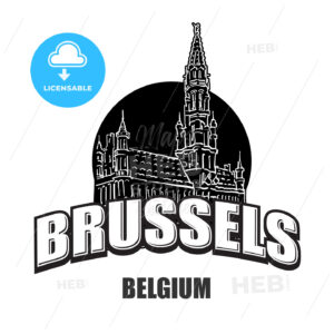 Brussels, Belgium, black and white logo - HEBSTREITS
