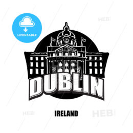Dublin, Ireland, black and white logo