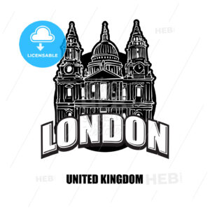 London St Pauls cathedral black and white logo - HEBSTREITS