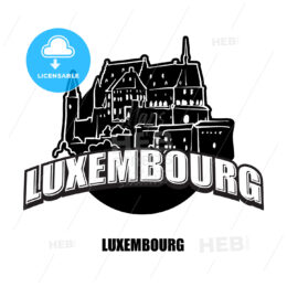 Luxembourg black and white logo