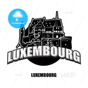 Luxembourg black and white logo - HEBSTREITS