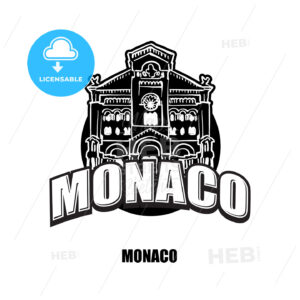 Monaco black and white logo - HEBSTREITS