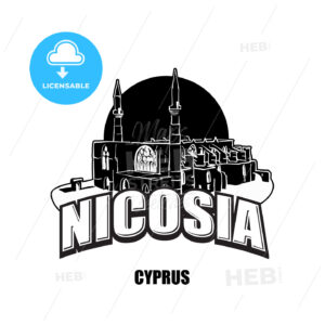 Nicosia, Cyprus, black and white logo - HEBSTREITS