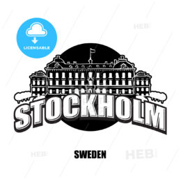 Stockholm royal palace black and white logo